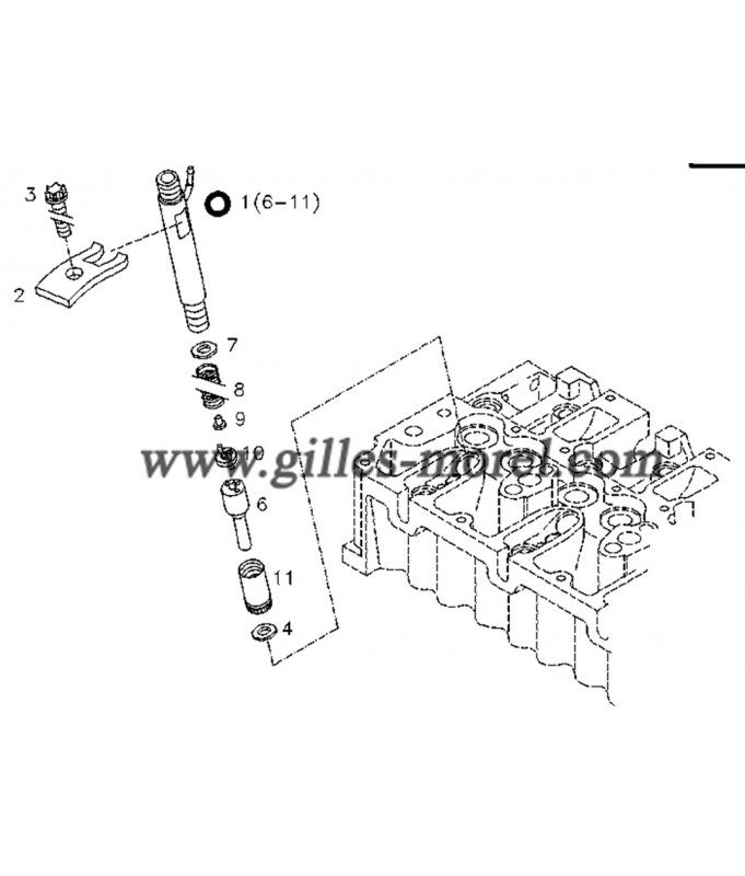 Garniture injecteur Ref. 04178016