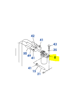 FILTRE CARBURANT COMPLET 129A00-55600