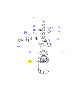 FILTRE A GASOIL K16631-43560