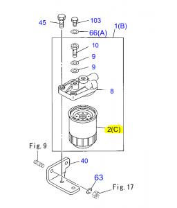FILTRE A GASOIL  I8-97172-5491