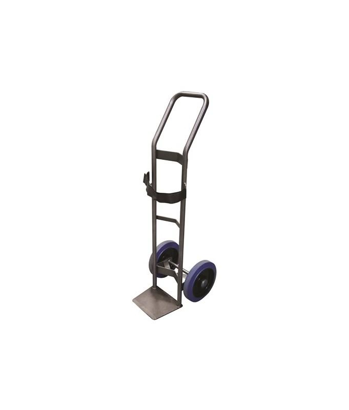 SAC15-RSB Diable pour charge cylindrique 200 kg roues caoutchouc bleu (RSB)