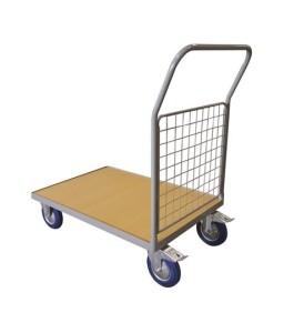 WPG50A Chariot plateau bois 500 kg avec 1 dossier grillagé (petit)