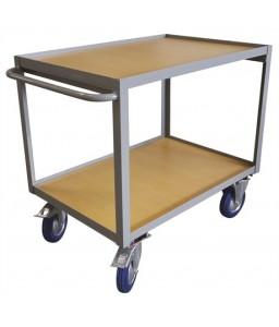 WP30A/2 Servante d'atelier plateau bois 300 kg plateforme 1000 x 700 mm