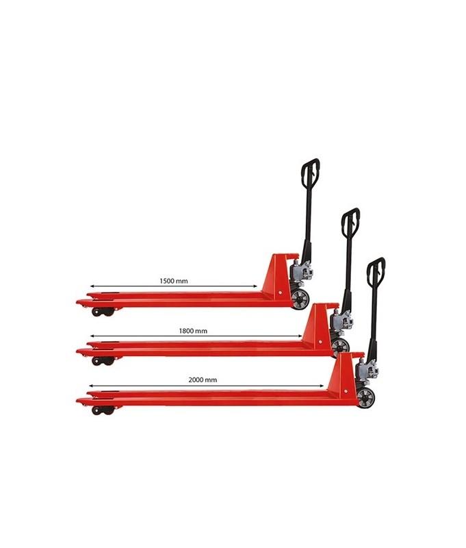 AC201800 Transpalette manuel long 2000 kg 1800 mm / 540 mm